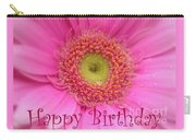 Pink Daisy Birthday Card Carry-all Pouch