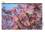 Pink Dogwood Flowers Landscape 11 Blue Sky Botanical Artwork Baslee Troutman Carry-all Pouch