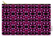 Pink Dots Pattern On Black Carry-all Pouch
