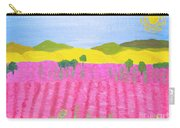 Pink Field Carry-all Pouch