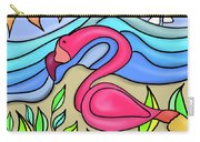 Pink Flamingo Glassy Carry-all Pouch