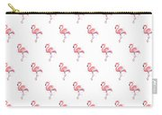 Pink Flamingo Watercolor Pattern Carry-all Pouch