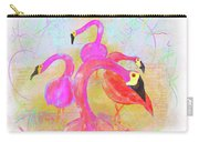 Pink Flamingos In The Park Carry-all Pouch