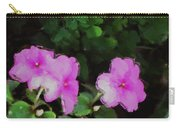 Pink Floral Watercolor Carry-all Pouch