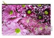 Pink Flower Carpet Carry-all Pouch