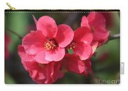Pink Flowering Quince Carry-all Pouch