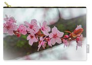 Pink Flowering Tree - Crabapple With Drops Carry-all Pouch