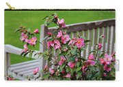Pink Flowers By The Bench Carry-all Pouch