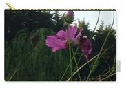Pink Flowers In Front Of Trees Carry-all Pouch
