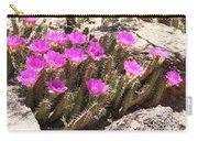 Pink Flowers In The Desert Carry-all Pouch