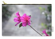 Pink Flowers Carry-all Pouch by Raphael Lopez