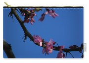 Pink Flowers With A Touch Of Ice Carry-all Pouch