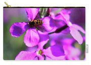 Pink Flowers With Bee . 40d4803 Carry-all Pouch