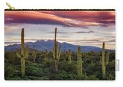 Pink Four Peaks Sunset  Carry-all Pouch