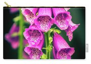 Pink Foxglove Carry-all Pouch