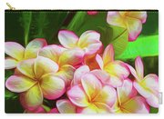 Pink Frangipani Carry-all Pouch