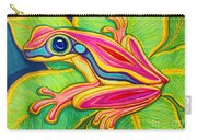 Pink Frog On Leafs Carry-all Pouch