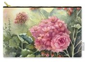 Pink Geranium's  Carry-all Pouch