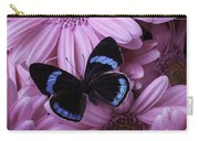 Pink Gerbera Daises And Butterfly Carry-all Pouch
