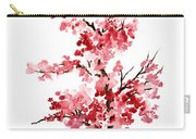Cherry Blossom, Pink Gifts For Her, Sakura Giclee Fine Art Print, Flower Watercolor Painting Carry-all Pouch