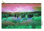 Pink Green Waterscape - Fantasy Artwork Carry-all Pouch