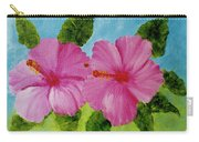 Pink Hawaiian Hibiscus Flower #23 Carry-all Pouch