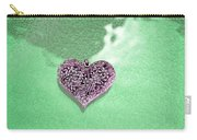 Pink Heart On Frosted Glass Carry-all Pouch