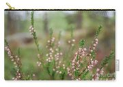 Pink Heather, Calluna Vulgaris, In Foggy Forest Carry-all Pouch