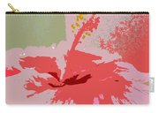 Pink Hibiscus Abstract Carry-all Pouch