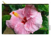 Pink Hibiscus Flower 1 Carry-all Pouch