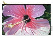 Pink Hibiscus With Raindrops Carry-all Pouch