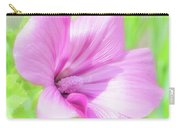 Pink Hollyhock Flower Carry-all Pouch