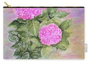 Pink Hydrangeas And Hostas Carry-all Pouch