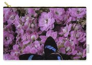 Pink Kalanchoe And Black Butterfly Carry-all Pouch