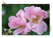 Pink Knockout Rose After The Rain Carry-all Pouch