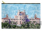 Pink Lady Don Cesar Watercolor Carry-all Pouch