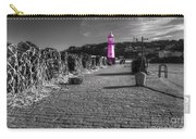 Pink Lighthouse Of St Ives Carry-all Pouch