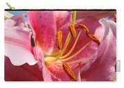 Pink Lilies Art Prints Lily Flowers 3 Giclee Artwork Baslee Troutman  Carry-all Pouch