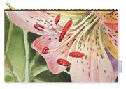 Pink Lily Close Up Carry-all Pouch
