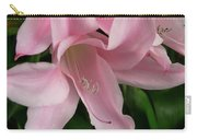 Pink Lily Flowers Carry-all Pouch
