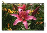 Pink Lily Lush Garden Carry-all Pouch