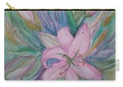 Pink Lily- Painting Carry-all Pouch