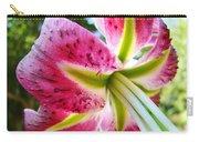 Pink Lily Summer Botanical Garden Art Prints Baslee Troutman Carry-all Pouch