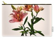 Pink Lily Trio Carry-all Pouch