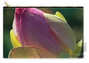 Pink Lotus Bud Carry-all Pouch