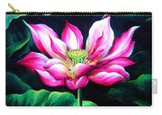 Pink Lotus From L.a. City Park Carry-all Pouch