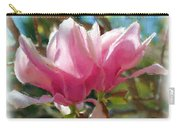 Pink Magnolia Blossoms Carry-all Pouch