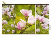 Pink Magnolia Triptych Carry-all Pouch