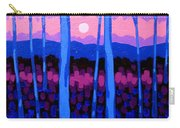 Pink Moon Carry-all Pouch by John  Nolan