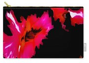 Pink On Black Carry-all Pouch
